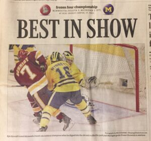 Kyle Schmidt scores the OT winner against Michigan to clinch the 2011 championship for Minnesota Duluth