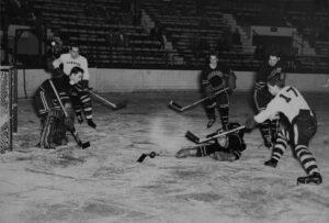 Northeastern at Harvard for January 6, 1950 hockey game