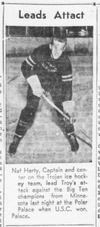 Nat Harty captained the Southern California Trojans in 1938